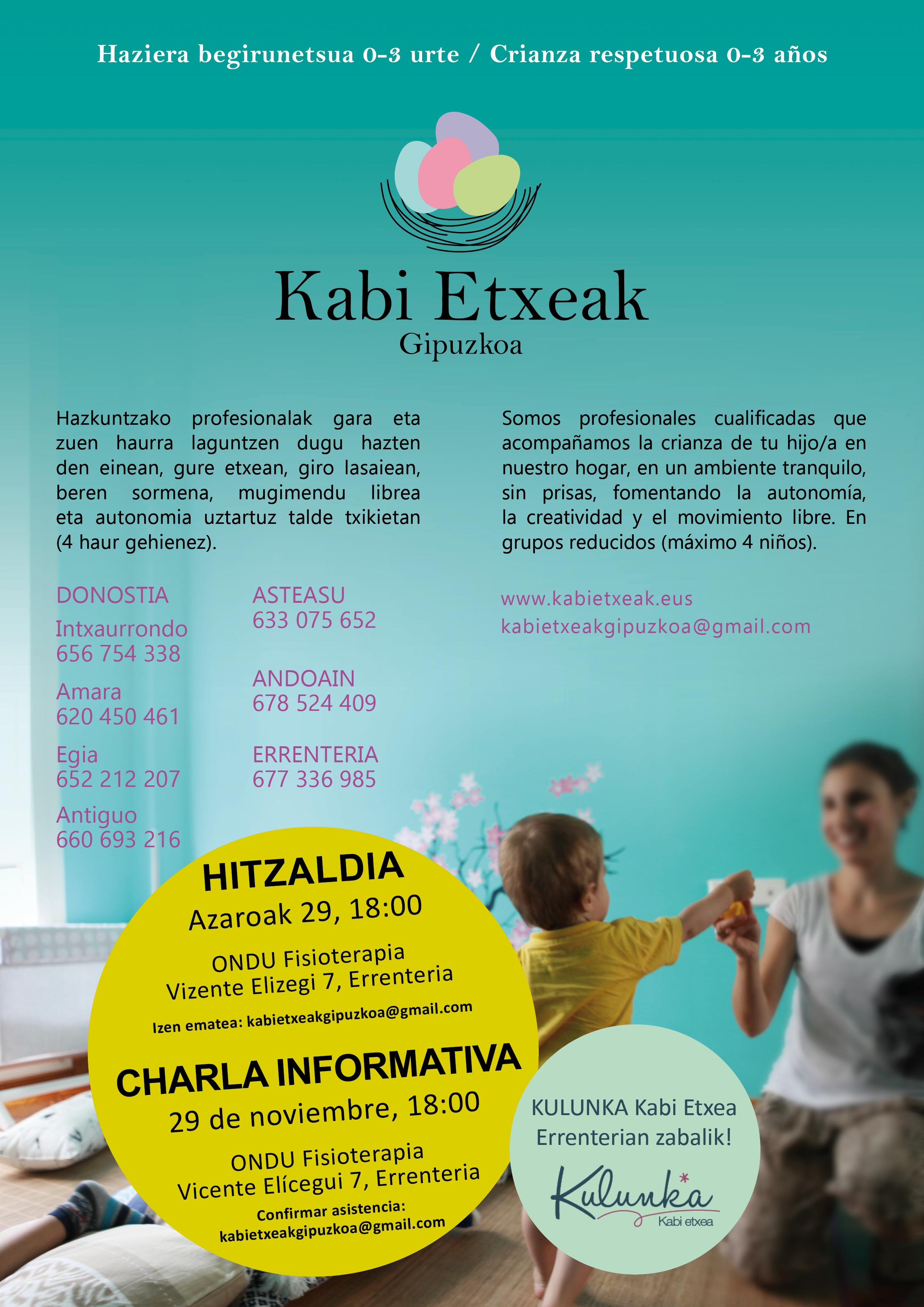 Cartel charla Errenteria